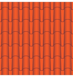 Roof tile seamless vector image