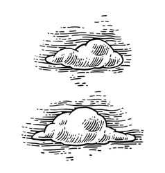 Set form of clouds vector