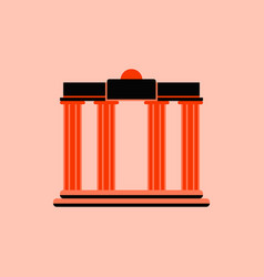 Architecture greek columns vector