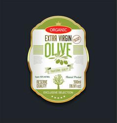 Olive oil retro vintage background label vector