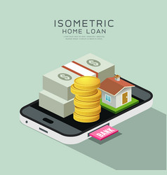 Isometric home and money vector