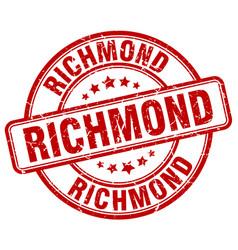 Richmond red grunge round vintage rubber stamp vector