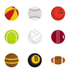 icons set flat style vector image