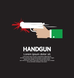 Hand holding a gun vector