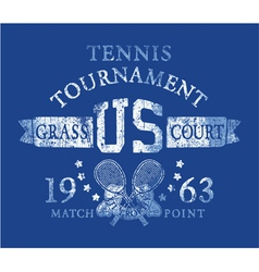 Tennis tournament vector image