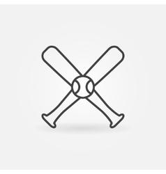 Baseball icon or logo vector image
