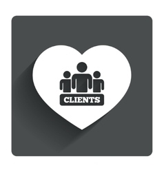 Love clients sign icon group of people symbol vector