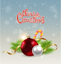 Christmas background with red decoration vector