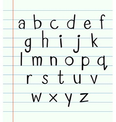 Handwriting english font a to z vector