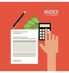 Invoice design business icon finance concept vector