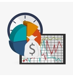 Business design financial item icon flat vector