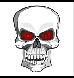 abstract image of a human skull vector image