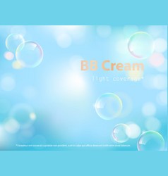 Advertising poster for bb cream vector
