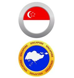 button as a symbol SINGAPORE vector image