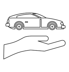 Car insurance concept icon outline style vector