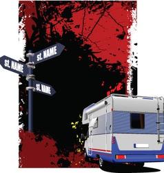 Caravan background vector