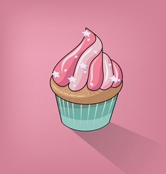 Cupcake Clipart Background vector image vector image
