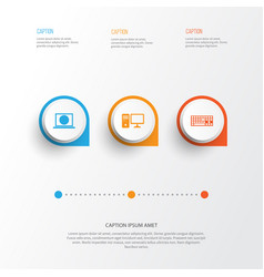 Device icons set collection of web personal vector