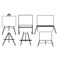 Easels vector