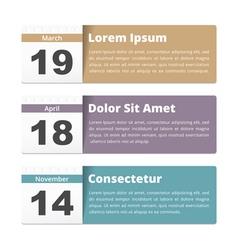 Event calendar vector