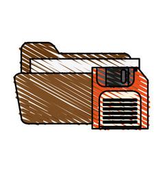 Floppy disk folder vector