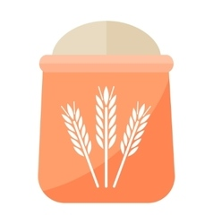 Flour bag vector image