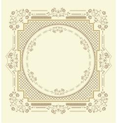 Frame floral ornament vector image vector image