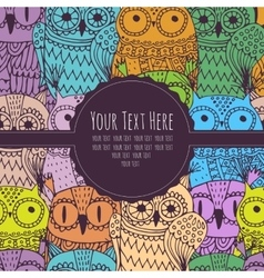 frame for text with an owl vector image