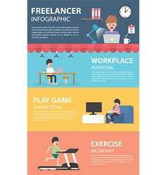 Freelance infographic design elements vector image vector image