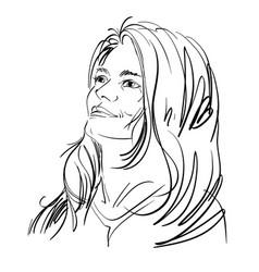 graphic hand-drawn of white skin vector image