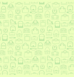 green fashion line bags seamless pattern vector image vector image