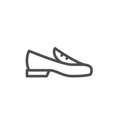loafer shoe line icon vector image vector image