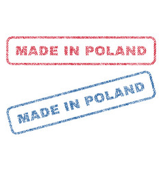 Made in poland textile stamps vector