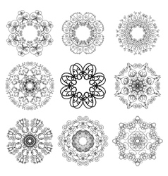 Mandala isolated ethnic amulet vector