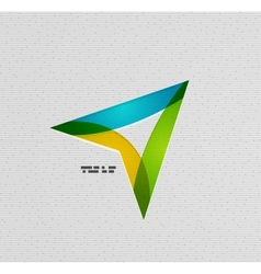 Modern colorful paper arrow design vector image