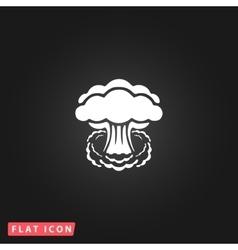 Mushroom cloud flat icon vector