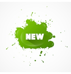 New title on green splash vector
