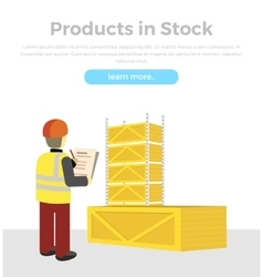 Products in Stock Delivery of Goods Banner vector image