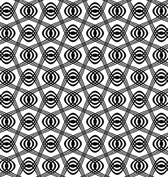 Seamless black and white swirl pattern vector image vector image