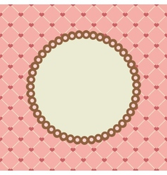 set with circle frames for wedding invitation vector image