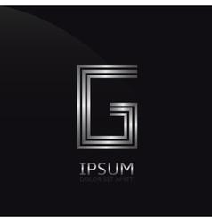 Silver letter g vector