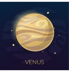 The planet Venus vector image vector image