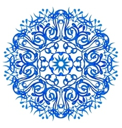 Watercolor blue mandala vector