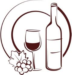 Wine still life vector