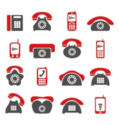 phone telecommunications icon vector image