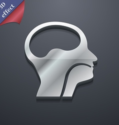 Larynx medical doctors otolaryngology icon symbol vector