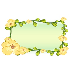 Flower plant frame design vector image