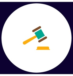 Judge gavel computer symbol vector