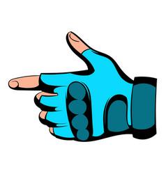 Gloves icon cartoon vector