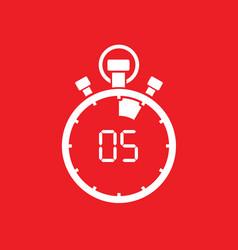 five minute stop watch countdown vector image
